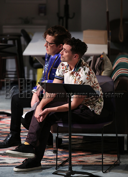 Sam Salmond and Jeremy J. King during the 2018 Presentation of New Works by the DGF Fellows on October 15, 2018 at the Playwrights Horizons Theatre in New York City.