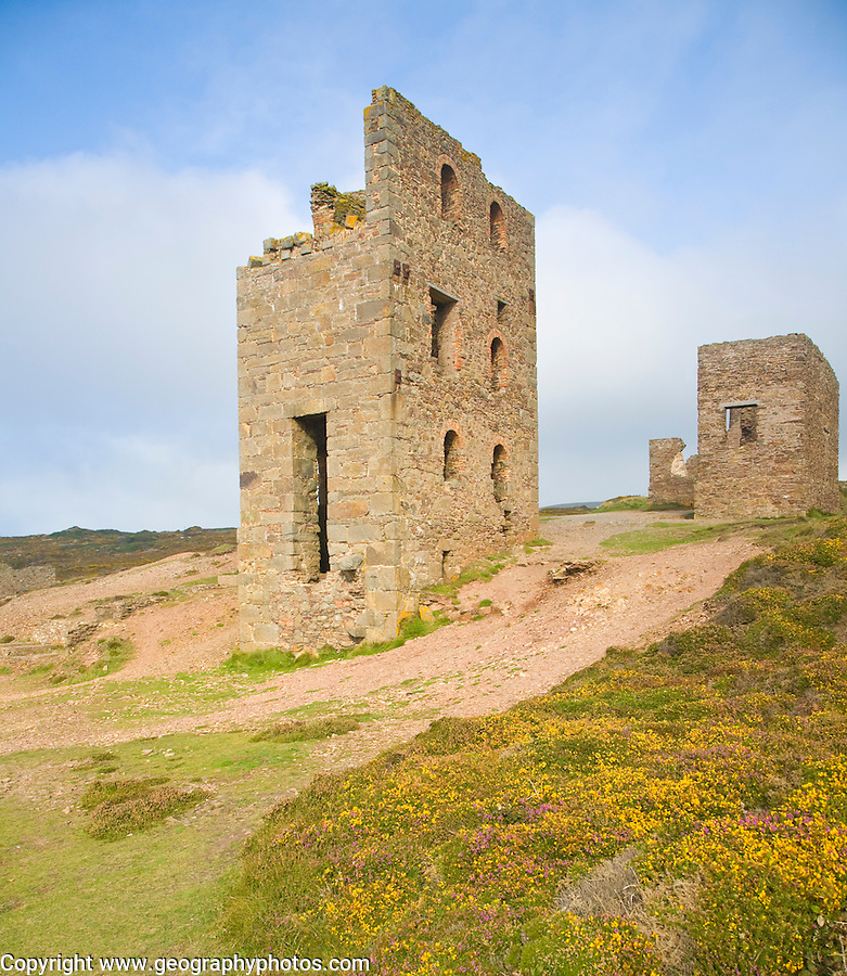 Ruins of Wheal Coates Tin Mine, St Agnes Head, Cornwall, England