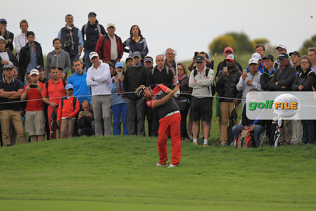 Victor Dubuisson (FRA) on the 13th fairway during Round 2 of the 100th Open de France, played at Le Golf National, Guyancourt, Paris, France. 01/07/2016. <br /> Picture: Thos Caffrey   Golffile<br /> <br /> All photos usage must carry mandatory copyright credit   (&copy; Golffile   Thos Caffrey)
