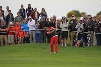 Victor Dubuisson (FRA) on the 13th fairway during Round 2 of the 100th Open de France, played at Le Golf National, Guyancourt, Paris, France. 01/07/2016. <br /> Picture: Thos Caffrey | Golffile<br /> <br /> All photos usage must carry mandatory copyright credit   (&copy; Golffile | Thos Caffrey)