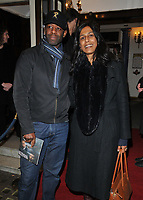 Adrian Lester and Lolita Chakrabarti at the &quot;Betrayal&quot; play press night, The Harold Pinter Theatre, Panton Street, London, England, UK, on Wednesday 13th March 2019.<br /> CAP/CAN<br /> &copy;CAN/Capital Pictures
