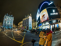 The view of square Piccadilly Circus in the night on Februrary 05, 2019, in London, UK. (Photo by Adamo Di Loreto/BuenaVista*photo)