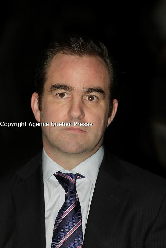 Montreal, CANADA,  2015 File Photo.<br /> <br /> Geoff Molson, president and chief executive officer and co-owner of the National Hockey League's Montreal Canadiens, Evenko, Bell Centre and L'equipe Spectra alongside his brothers Andrew Molson and Justin Molson<br /> <br /> PHOTO : Agence Quebec Presse - Pierre Roussel