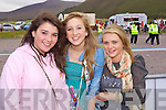 Hazel Foley, Sophie Stephens and Louise Langston, Killorglin pictured at Glenbeigh Races at Rossbeigh Beach on Sunday.