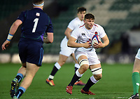Aaron Hinkley of England U20 in possession. U20 Six Nations match, between England U20 and Scotland U20 on March 15, 2019 at Franklin's Gardens in Northampton, England. Photo by: Patrick Khachfe / JMP