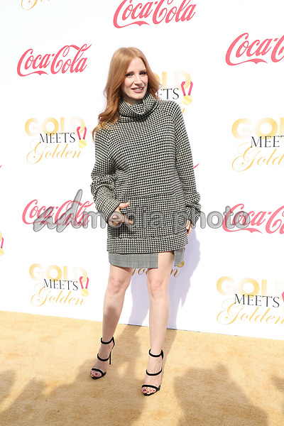 06 January 2018 - Los Angeles, California - Jessica Chastain. 2018 Gold Meets Golden held at The Sunset House. Photo Credit: PMA/AdMedia