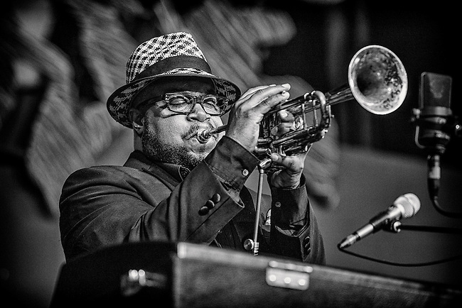 Nicholas Payton performs on the WWOZ Tent Stage during the 2013 New Orleans Jazz & Heritage Music Festival at Fair Grounds Race Course on May 3, 2013 in New Orleans, Louisiana. USA.