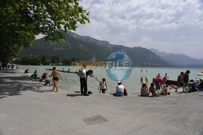 Lake Annecy host of Stage 18 of the Tour de France 2009 an individual time trial running 40.5km, France. 23rd July 2009 (Photo by Eoin Clarke/NEWSFILE)