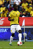 BARRANQUILLA – COLOMBIA - 23 – 03 -2017: Cristian Zapata, jugador de Colombia en accion, durante partido entre los seleccionados de Colombia y Bolivia, de la fecha 13 válido por la clasificación a la Copa Mundo FIFA Rusia 2018, jugado en el estadio Metropolitano Roberto Melendez en Barranquilla. / Cristian Zapata, player of Colombia in action, during match between the teams of Colombia and Bolivia, of the date 13 valid for the Qualifier to the FIFA World Cup Russia 2018, played at Metropolitan stadium Roberto Melendez in Barranquilla. Photo: VizzorImage / Luis Ramirez / Staff.