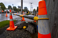 Citycare water main toby replacement on Fleet St in Masterton, New Zealand on Wednesday, 23 October 2019. Photo: Dave Lintott / lintottphoto.co.nz