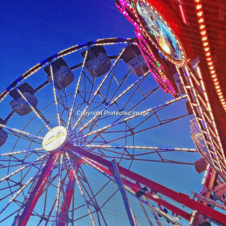 The ferris wheel at Mill Valley Memorial Day carnival.
