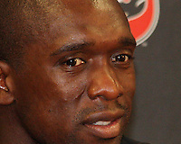 Clarence Seedorf #10  of A.C. Milan at a news conference during an international friendly match against D.C. United at RFK Stadium, on May 26 2010 in Washington United won 3-2.