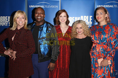 "29 May 2019 - Los Angeles, California - Jane Krakowski, Tituss Burgess, Ellie Kemper, Carol Kane, Busy Philipps. NBC FYC Series ""Unbreakable Kimmy Schmidt"" held at UCB Sunset Theatre.   <br /> CAP/ADM/FS<br /> ©FS/ADM/Capital Pictures"