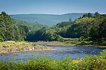 The West River flows through the Green Mountains, East Dummerston, VT, USA