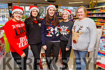 The staff at Spar Oakpark supporting the Christmas Jumper appeal day on Friday.<br /> L to r: Deana Devane, Violeta Sik, Lisa Coffey, Kerrie O'Leary and Julianne Fitzgerald.