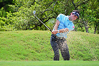 Bubba Watson (USA) hits from the trap on 10 during round 3 of the World Golf Championships, Dell Technologies Match Play, Austin Country Club, Austin, Texas, USA. 3/24/2017.<br /> Picture: Golffile | Ken Murray<br /> <br /> <br /> All photo usage must carry mandatory copyright credit (&copy; Golffile | Ken Murray)