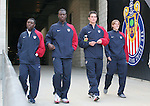 29 January 2006: Reserve players for the United States take the field. From left: Freddy Adu, Eddie Johnson, Bobby Boswell, Brian Carroll. The United States Men's National Team defeated their counterparts from Norway 5-0 at the Home Depot Center in Carson, California in a men's international friendly soccer game.