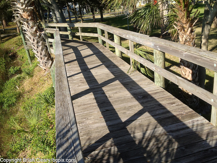 Wooden walkway near the river, iPhone photo from the archives of Florida-based freelance photographer Brian Cleary.  (Photo by Brian Cleary/ www.bcpix.com )