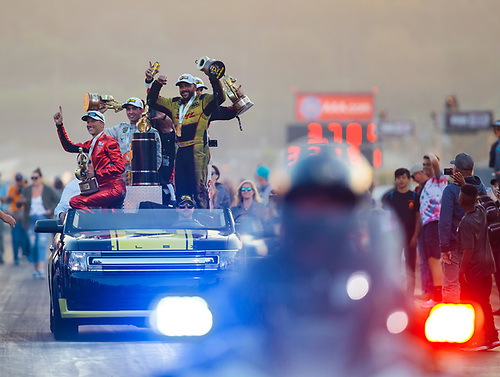 funny car, Camry, J.R. Todd, DHL, celebration, world champion, trophy