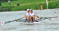 Amsterdam, NETHERLAND, GBR LM2X Bow. James COOMBES and Gavin MURTY.  2011 FISA U23 World Rowing Championships, {dow], {date} [Mandatory credit:  Intersport Images].