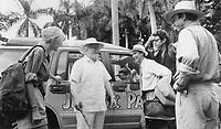 Jurassic Park (1993)<br /> Laura Dern, Richard Attenborough, Martin Ferrero, Jeff Goldblum &amp; Sam Neill<br /> *Filmstill - Editorial Use Only*<br /> CAP/KFS<br /> Image supplied by Capital Pictures