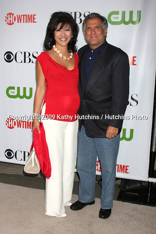 Julie Chen & Les Moonves arriving at the CBS Television Distribution TCA Stars Party at the Huntington Library in San Marino, CA  on August 3, 2009 .©2009 Kathy Hutchins / Hutchins Photo..