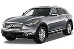 Front three quarter view of a 2012 Infiniti FX35 .