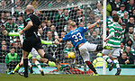 Martyn Waghgorn's shot is saved by Craig Gordon