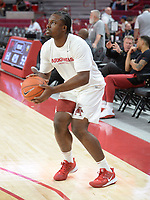 NWA Democrat-Gazette/ANDY SHUPE<br /> Arkansas' Jamario Bell warms up Saturday, Nov. 30, 2019, before the Razorbacks' game with Northern Kentucky in Bud Walton Arena. Visit nwadg.com/photos to see more photographs from the game.