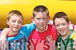 2723-2728.Luke OSullivan, Danny OShea and Stephen Courtney, Cromane, having a great time at the Cromane GAA Funday on Sunday..