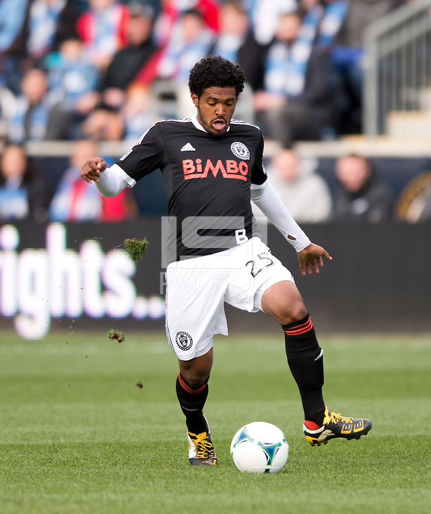 Sheanon Williams.  Sporting Kansas City defeated Philadelphia Union, 3-1. at PPL Park in Chester, PA.