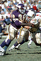 Minnesota Vikings Alan Page (88) in action during a game against the St. Louis Cardinals at Metropolitan Stadium in Bloomington, Minnesota. Alan Page was inducted to the Pro Football Hall of Fame in 1988.