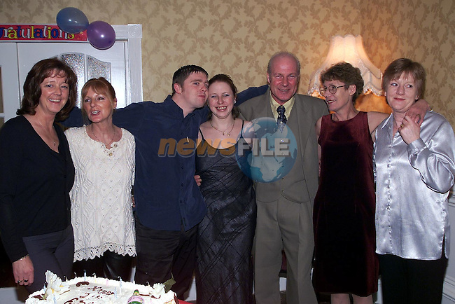 Edel Collier from Julianstown who celebrated her 21st in the Julianstown Inn with her parents Mary and Tom, friends Margaret Campbell, Veronica Adamson, Kathleen Collier and boyfriend Anthony Carroll..Picture Paul Mohan Newsfile