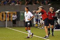 Stephanie Cox, Pia Sundhage...USWNT tied Sweden 1-1 at Morrison Stadium, Omaha Nebraska.