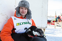 2015 Junior Iditarod musher Dakota Schlosser at the staging area along the Denali Highway. <br /> <br /> <br /> <br /> (C) Jeff Schultz/SchultzPhoto.com - ALL RIGHTS RESERVED<br />  DUPLICATION  PROHIBITED  WITHOUT  PERMISSION