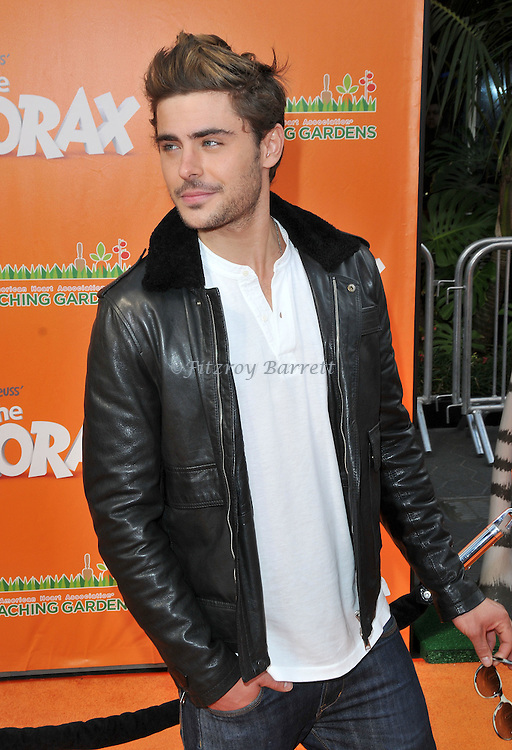 Zac Efron at the Dr. Seuss The Lorax Premiere held at  Universal Studios  Hollywood, Universal City, CA.. February 19, 2012