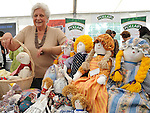 Eve Molloy from Omeath pictured with some of her creations at the Heritage and Harvest festival at An Grianan. Photo: www.pressphotos.ie