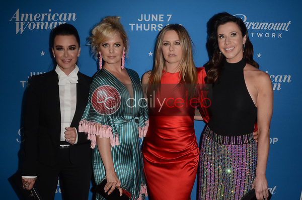 "Kyle Richards, Mena Suvari, Alicia Silverstone, Jennifer Bartels<br /> at the ""American Woman"" Premiere Party, Chateau Marmont, Los Angeles, CA 05-31-18<br /> David Edwards/DailyCeleb.com 818-249-4998"