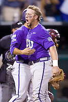 TCU's Holaday, Bryan 7649.jpg against Florida State at the College World Series on June 23rd, 2010 at Rosenblatt Stadium in Omaha, Nebraska.  (Photo by Andrew Woolley / Four Seam Images)