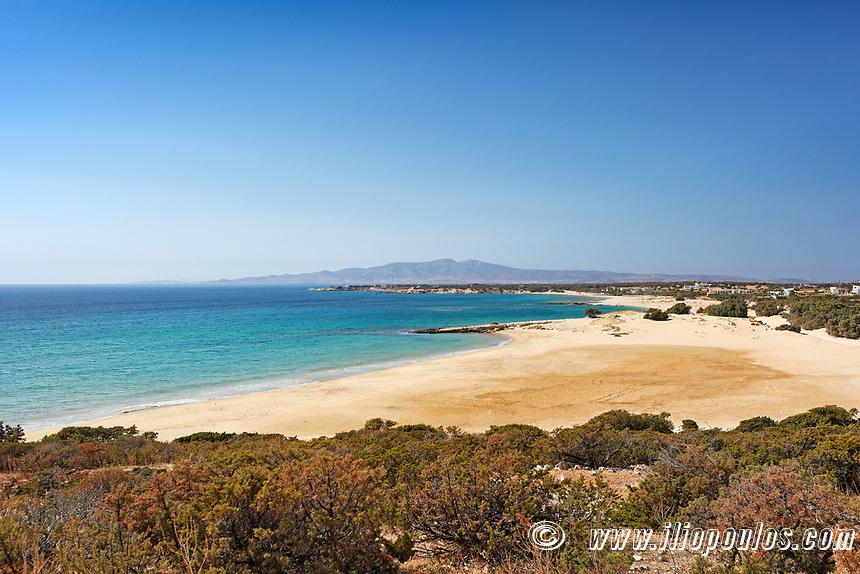 Pyrgaki beach in Naxos island, Greece