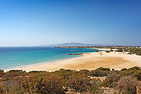 Pyrgaki beach in Naxos island, Greece