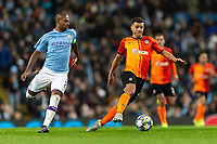Fernandinho of Manchester City and Moraes of Shakhtar Donetsk during the UEFA Champions League Group C match between Manchester City and Shakhtar Donetsk at the Etihad Stadium on November 26th 2019 in Manchester, England. (Photo by Daniel Chesterton/phcimages.com)
