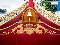 Henley Royal Regatta, Henley on Thames, Oxfordshire, 28 June - 2 July 2017.  Wednesday  11:54:09   28/06/2017  [Mandatory Credit/Intersport Images]<br /> <br /> Rowing, Henley Reach, Henley Royal Regatta.<br /> Details from The Royal Row Barge GLORIANA