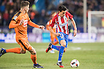 Nicolas Gaitan (r) of Atletico de Madrid fights for the ball with Cristian Rivera Hernandez of SD Eibar during their Copa del Rey 2016-17 Quarter-final match between Atletico de Madrid and SD Eibar at the Vicente Calderón Stadium on 19 January 2017 in Madrid, Spain. Photo by Diego Gonzalez Souto / Power Sport Images