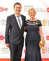 Ian Kershaw and Julie Hesmondhalgh at the Virgin TV British Academy (BAFTA) Television Awards 2018, Royal Festival Hall, Belvedere Road, London, England, UK, on Sunday 13 May 2018.<br /> CAP/CAN<br /> &copy;CAN/Capital Pictures