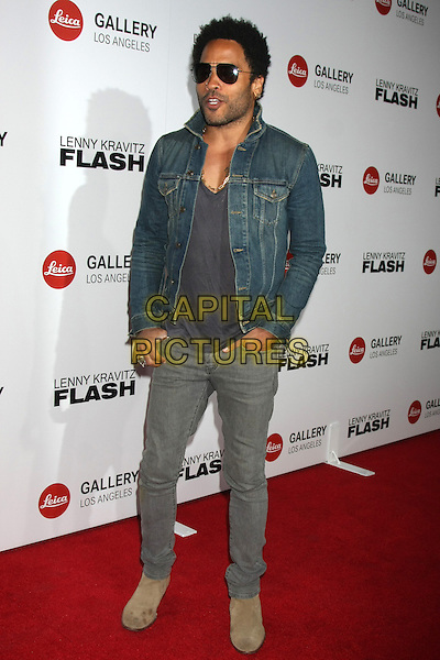 LOS ANGELES, CA - MARCH 5: Lenny Kravitz at the Lenny Kravitz' &quot;Flash&quot; Photo Exhibit Launch, Leica Gallery, Los Angeles, California on March 5, 2015. <br /> CAP/MPI/DC/DE<br /> &copy;DE/DC/MPI/Capital Pictures