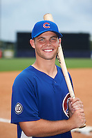 Ty Duvall (20) of Lebanon High School in Lebanon, Ohio playing for the Chicago Cubs scout team during the East Coast Pro Showcase on July 30, 2015 at George M. Steinbrenner Field in Tampa, Florida.  (Mike Janes/Four Seam Images)