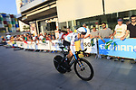Michal Kwiatkowski (POL) Team Sky during Stage 1 of the La Vuelta 2018, an individual time trial of 8km running around Malaga city centre, Spain. 25th August 2018.<br /> Picture: Ann Clarke | Cyclefile<br /> <br /> <br /> All photos usage must carry mandatory copyright credit (© Cyclefile | Ann Clarke)