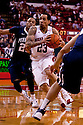 11 January 2012: Bo Spencer #23 of the Nebraska Cornhuskers drives to the basket against Tim Frazier #23 of the Penn State Nittany Lions during the second half at the Devaney Sports Center in Lincoln, Nebraska. Nebraska defeated Penn State 70 to 58.