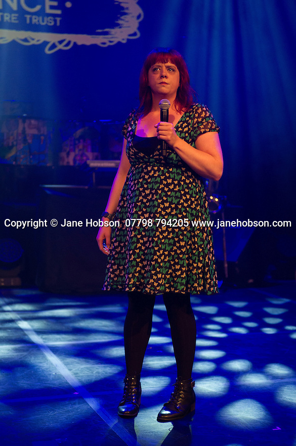 Edinburgh, UK. 02.08.2014. The Pleasance hosts its press launch in its 30th anniversary year on the Fringe. Picture shows: Comedian, Angela Barnes.  Photograph © Jane Hobson